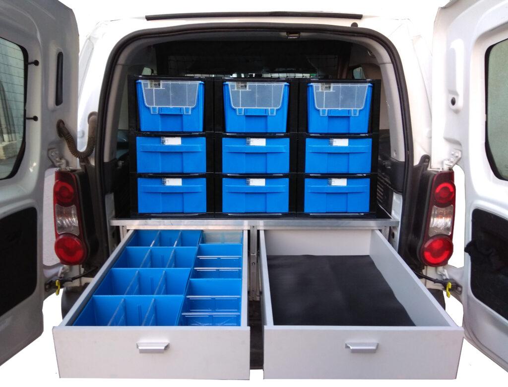 מערכות מגירות שליפה מלאה עם מסילות טלסקופיות, מזוודות שירות רב תא נשלפות לקבלת הפתרון המושלם לדיגום וזיווד הרכב.